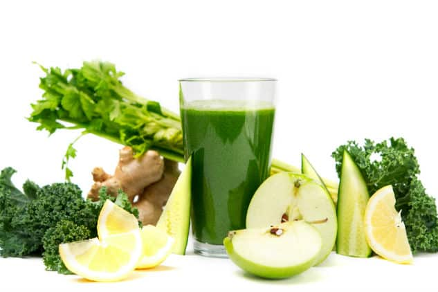 Green Juice made with fuit and veggies
